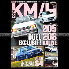 KM/H N°39 205 208 RALLYE FOCUS ST 170 R11 R5 RENAULT 5 ALPINE TURBO COUPE MG ZR