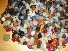 WHOLESALE 100 ASSORTED -10mm - 18mm SMALL POLISHED TUMBLESTONE GEMSTONE CRYSTALS