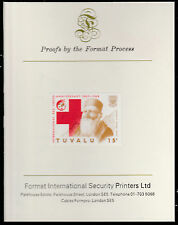 Tuvalu (1583) - 1988 RED CROSS 15c  imperf on Format International PROOF  CARD