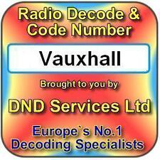 Vauxhall Radio Code Decode Unlock by Serial Number
