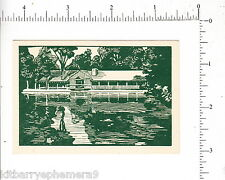 6286 The Old Mill restaurant 1945 business card Rt 2 Mohawk Trail Westminster MA