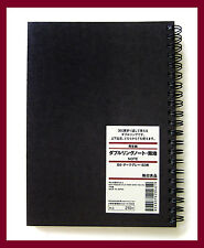 muji black kraft paper cover plain B6 notebook 80 sheets = 160 pages