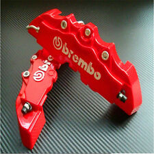 Red BREMBO Style Universal Disc Brake Caliper Covers 3D FRONT WHEEL - MEDIUM 2PC