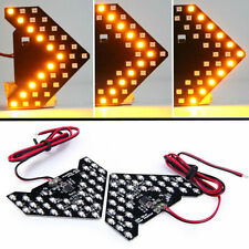 1pc Car Rearview Mirror Panel Arrow Yellow 33 SMD LED Turn Signal Indicator Lamp