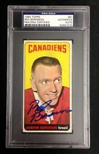 RED BERENSON SIGNED TOPPS 1964 TALL BOYS CANADIENS HOCKEY CARD #61 PSA/DNA Auto