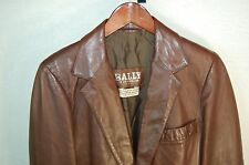SUPER CHIC !!! BALLY OF SWITZERLAND  FITTED LEATHER JACKET/BLAZER  EU 48 US 38