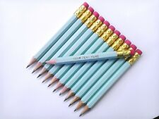 """72 """"Pastel Blue"""" Personalized Golf Pencils with Erasers"""