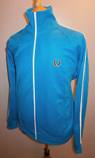 FRED PERRY MENS SIZE LARGE BLUE TRACKSUIT TOP SPORT JACKET TRACK