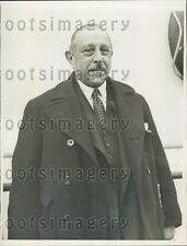 1933 London Daily Express Editor Ralph Blumenfeld on SS Majestic Press Photo
