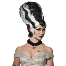 Bride of Frankenstein Wig Adult Womens Halloween Costume Fancy Dress