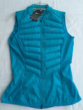 new Nike Aeroloft 800 Fill Down Packable Running Vest 616257-407 Blue Women's L