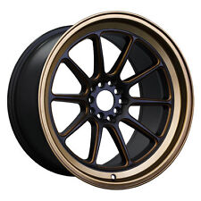 XXR 557 15x8 4X100/4X114.3 +20 FLAT BLACK/BRONZE SET OF 4 RIMS WHEELS