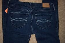 GIRLS JEANS - ABERCROMBIE KIDS - 14 SLIM - CUTE STRETCH - DENIM JEANS - USED