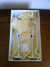 Wedding Day Toasting Glasses Champagne Flute Glass Set/Gift Bride Groom
