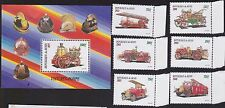 BENIN MINT STAMPS scott 1214-14D +S/S FIRE ENGINE SET 4 0515