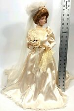 "FRANKLIN MINT HEIRLOOM GIBSON GIRL BRIDE DOLL 22"" WITH ORIGINAL BOX"