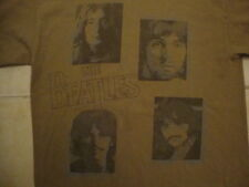 The Beatles Classic Rock Music Band Throwback Brown Cotton T Shirt Size M