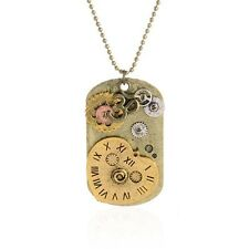 New Hot Vintage Retro Clock Decoration Punk Pendant Necklace