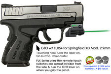ArmaLaser GTO for Springfield XD Mod 2.9mm GREEN Laser Sight w/FLX54 Grip On/Off