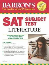 Barron's SAT Subject Test Literature, 6th Edition by Myers-Shaffer M.Ed., Chris