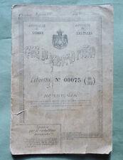 Libretto postale Casse di Risparmio Postali 1924 Udine_Lestizza