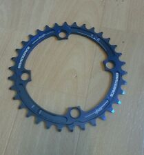 Raceface Single Chainring, Race Face, 34t, 4 bolt, 9/10 speed, Blue