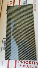 "Carbon Fiber Dye Fiberglass Panel Sheet 6""×12""×1/32"" Glossy One Side SILVER"