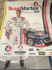 Craig Lowndes Poster Vortex V8 Supercars Triple 8 Red Bull Racing