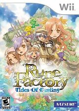 Rune Factory: Tides Of Destiny (Nintendo Wii Natsume Explore Collect) Brand NEW