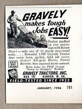 1956 Vintage Ad Gravely 5 HP Tractors with Rotary Plow Dunbar,WV