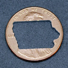 Lucky penny with Iowa cut out