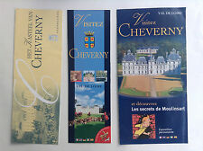 Lot de brochures Chateau Cheverny Tintin
