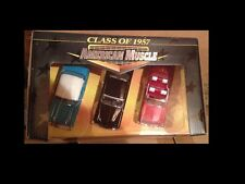 1957 3 Car Set Chevy Mercury Chrysler 1:43Ertl American Muscle 32001