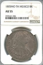 1805 MO TH Mexico 8 Reales KM# 109 GRADED AU55 BY NGC