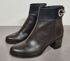 Fendi Colorblock Ankle Bootie, Black & Brown Leather Womens size 5 / 35  $1200