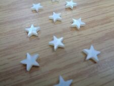 Set of 10 Real Mother Of Pearl Star Inlays for Custom Guitar 7mm