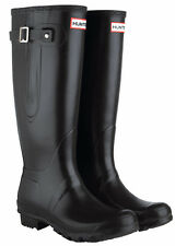 Original Hunter Black Side Adjustable Wellington Boots UK4 / EU37
