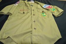 Boy Scouts of America Vintage Olive Green MEDIUM ( NO SIZE) Women's SHIRT