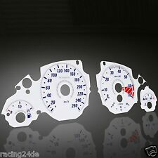 Innoparts Plasma Tachoscheiben Set BMW E39 Benziner Tacho 20-240/7000 weiß/blau