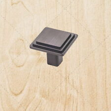 Kitchen Cabinet Hardware Square Knobs kt51 Brushed Oil Rubbed Bronze pull 1-1/8""