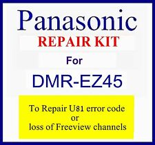 Repair kit U81 error code, no Freeview channels Panasonic Dmr-ez45v dvd recorder