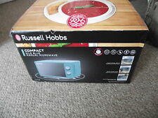 russell  hobbs compact nile blue manual microwave