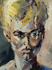 Frauenbildnis. Expressionist. Sign.: H. FISCHER 1961