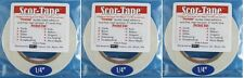 "Sookwang Scor-Tape THREE Roll Lot 1/4"" x 27 yards Double-sided Tape + Bonus Pen"