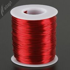 Magnet Wire, Enameled Copper, Red, 21 AWG (gauge), 155C, 1 lb, 400ft ~ 0.71mm *
