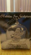 Heritage Mint Ltd Holiday Ice Sculptures Santa Lighted Globe Ornament (C126 B)