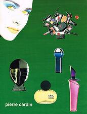 PUBLICITE ADVERTISING 074  1998  PIERRE CARDIN  cosmétiques gamme parfums