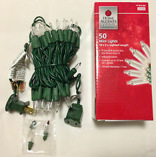 50 Mini String Lights Clear White Christmas Outdoor Indoor (10ft)