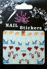Christmas, Water Nail Sticker Tatoo, Weihnachten , AS030