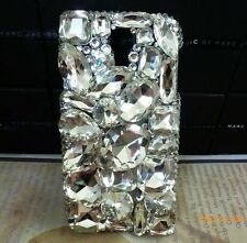 3D Crystal Diamond BLING Hard Case Phone Cover For Samsung Galaxy Note 4 NEW */8